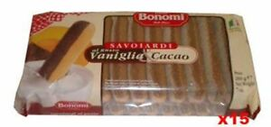 Lady Fingers with Vanilla and Cocoa (bonomi) CASE (15 x 200g)