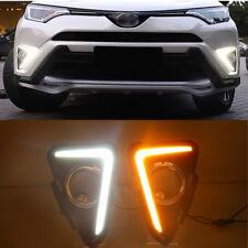 2x LED Auto DRL Daytime Running Lights Fog Drive Turn Signal Set for RAV4