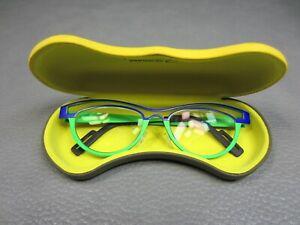 Rare Theo Aloba Titanium Belgium Eye Glass Frames Purple and Green