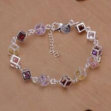 beautiful Fashion colors nice silver crystal wedding women cute bracelet 925