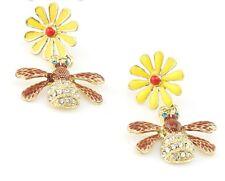 E283 BETSEY JOHNSON Cute Ladybird Lady Beetle Bug Sun Flower Earrings  UK