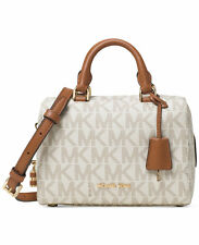 NWT $248 Michael Kors Monogram Logo Signature Kirby Mini Satchel! Vanilla