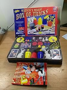 Marvin's magic box of tricks 130 tricks-preowned-complete-free-P&P