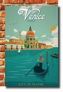 24x36 Poster Italy Venice City of Water Vintage Travel  Scenery Tourism 051