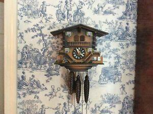 Vintage W German Musical Chalet Cuckoo Clock