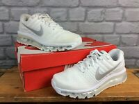 NIKE UK 5 EU 38.5 AIR MAX 2017 GS WHITE TRAINERS CHILDRENS LADIES RRP £120 AD