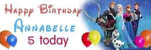 Disney FROZEN Birthday Banner PERSONALISED 4'/5'/ 6'