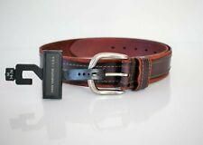 men leather belt 11VS02XZ07 LG black sz 38-40 L $88 new JOHN VARVATOS U.S.A