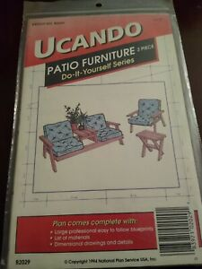 UCANDO Do-It-Yourself Series PATIO FURNITURE 3 PIECE Plans/Design No. B2029