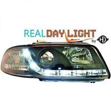 LHD Projector LED DRL Headlights Pair Clear Black For Audi A4 Avant 8D2 94-98