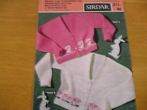 KNITTING PATTERN FOR 2 CHILDS CARDIGANS. BY SIRDAR.