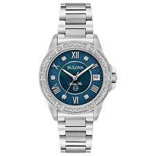 Bulova Marine Star Women's Quartz Diamond Accents Bracelet 34mm Watch 96R215