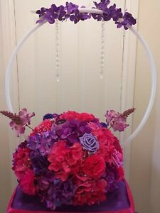 Hula Hoop Centerpieces, Wedding Rings, Wedding Decorations, Wedding Centerpieces