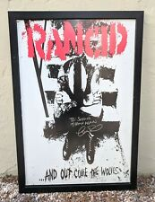 Rancid Lars Frederiksen Signed Signature Poster And out comes the Wolves