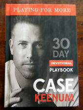 """Case Keenum - """"Playing For More"""" - 30 Day Devotional Playbook - 2018 Hardcover"""