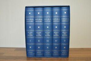 Natural History - Pliny - 5 Vol Set - Folio Society 2012 (D6) 1st Printing