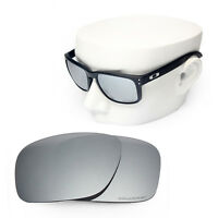 786e637aba1 OOWLIT Replacement Sunglass Lenses for-Oakley Holbrook POLARIZED - Silver  Mirror
