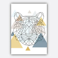 Art PRINT GEOMETRIC Low poly ANIMAL collection SCANDINAVIAN Poster Wall 3 for 2
