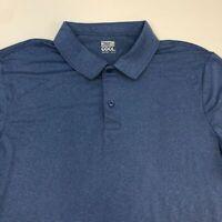 NWT 32 Degrees Cool Polo Shirt Men's 2XL XXL Short Sleeve Blue Polyester Blend