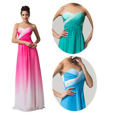 Plus OMBRE Chiffon Bridesmaid Dress New Formal Evening Ball Gown Masquerade Prom