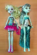 Lote de 2 Muñecas Doll Monster high MUY BUEN ESTADO Frankie Stein+Lagoona Azul
