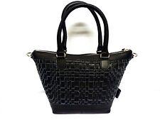 VOI Ledertasche Handtasche Tasche Damen - 2 Henkel - schwarz - Leder - klein