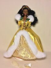 Mattel Barbie 1994 Happy Holidays Holiday Doll Gold Dress African American