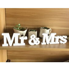 Wedding Mr&Mrs Timber Plaque Letters Party Centrepiece Standing Top Table Decor