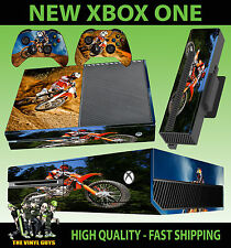 XBOX ONE CONSOLE STICKER MOTORCROSS MOTO X KTM MOTORCYCLE SKIN & 2 PAD SKINS