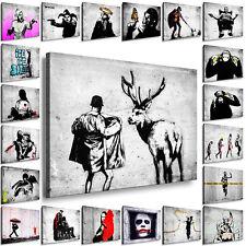 BILDER XXL LEINWANDBILDER BANKSY STREET ART GRAFFITI 40 VERSCHIEDENE WANDBILDER