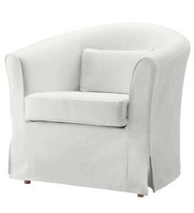 Brand New Ikea Cover for Ektorp Tullsta Armchair in Blekinge White 801.225.78