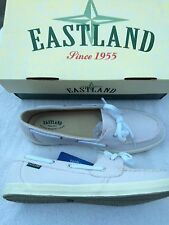 SKIP~CANVAS~EASTLAND~BOAT SHOE~LOAFER~SLIP ON FLAT~9.5M~9.5 M~COMFY~SHOES~NEW