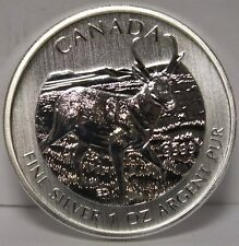Canada 2013 Pronghorn Antelope .9999 Silver $5 Coin 1 oz - Wildlife Series SH836