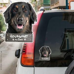 Hovawart an Bord Autoaufkleber Hund Aufkleber 10x12cm Hundeaufkleber 0916