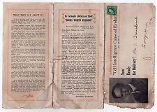 1910s NELS QUEVLI Promo Brochure FANCY GAP VIRGINIA Evolution CELL BIOLOGY