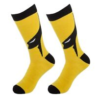 Bioworld Men's Superhero Wolverine Crew Socks DC Comics Classic Comic Book Xmen