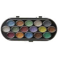 Pearlescent Watercolor Paint Cakes 16/pkg-assorted Colors - Set 16pkgassorted