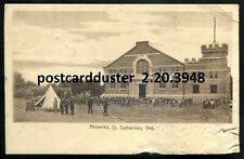 3948 - ST. CATHARINES Ontario 1910s Armories. Soldiers Big Guns by ISC Picton