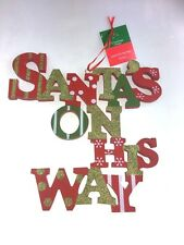 Christmas Plaque Decorative Santa On His Way