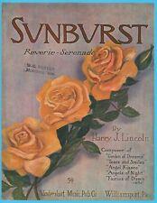 SUNBURST REVERIE SERENADE - HARRY J. LINCOLN - 1914 VANDERSLOOT PIANO SOLO