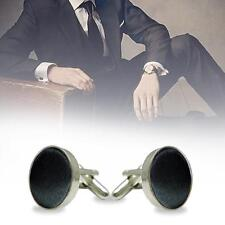 New Men's Black Charm Alloy Cloth Vintage Jewelry Cuff Links Shirt Accessory NG