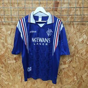 Rangers Adidas Home Shirt 1996/1997 - XL EXTRA LARGE - Top Kit Jersey VTG