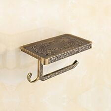 Toilet Paper Holders Antique Brass Rack Wall Mounted Bathroom With Roll Tissue