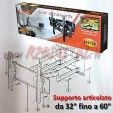 """SUPPORTO PARETE ARTICOLATO 32"""" a 60"""" STAFFA TELEVISORE MONITOR ORIENTABILE SMART"""