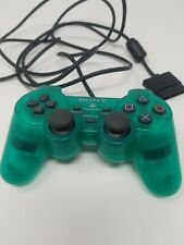 Sony Playstation 2 DualShock 2 SCPH-10010 Transparent Emerald Controller OEM