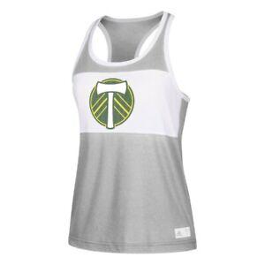 Portland Timbers MLS Adidas Women's Club Logo Grey Fan Wear Tank Top