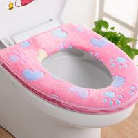 Bathroom Warmer Toilet Seat Cloth Soft Closestool Lid Cover Pad