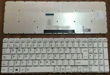 TOSHIBA SATELLITE L50-B L50-C L50D-B L50T-B S50-B S55-B UK White Keyboard New