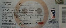 mint TICKET Eishockey WM 1.5.2015 Czech Republic - Sweden in Prag
