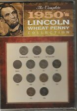 US  1950'S LINCON WHEAT PENNY COLLECTION SET